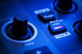 MIDI Button on a Controller Keyboard — Stock Photo