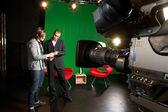 Tv stüdyo hazırlıkları — Stok fotoğraf