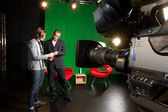 Tv studio preparatów — Zdjęcie stockowe