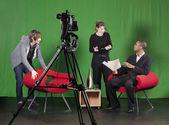 Configuração para uma gravação de tv — Foto Stock