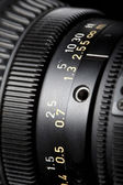 Televisie lens scherpstellen ring close-up — Stockfoto