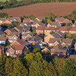 Aerial View of UK Houses - Stock Photo