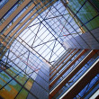 Atrium of modern building -  
