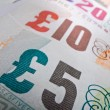 British Currency Close-up - Stock Photo