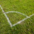 Football Pitch Corner Markings - Foto Stock