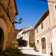 Quiet lane in Valldemossa, Majorca - Stock Photo
