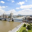Tower Bridge and River Thames - Stok fotoraf