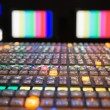 Television Broadcast Control Panel - Stock Photo