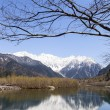 Hotaka Mountain Range Reflected in Lake — Stock Photo