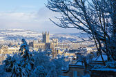 Bath in the snow — Stockfoto