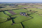 Aerial View of Farm and Fields — Stockfoto