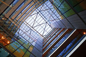 Atrium of modern building — Stock Photo
