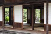 Traditional Japanese Tearoom in Formal Garden — Stok fotoğraf