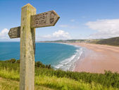 Coastal path, Woolacombe, Devon — Stock Photo