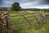 Wooden Farm Gate, England — Stock Photo