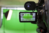 Viewfinder on an HD TV Camera — Stockfoto