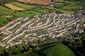 Aerial view of housing estate — Stock Photo