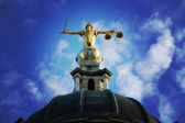 Lady Justice On The Old Bailey, London — Stock Photo
