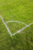 Football Pitch Corner Markings — Stock Photo