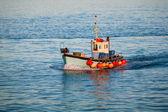 Fishing trawler at sea — Stock Photo