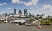 Skyline view of London's Square Mile — Stock Photo