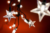 Star shaped christmas lights — Stock Photo