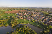 Aerial View of SuburbanTown — Stock Photo
