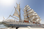 Tall Ship Moored at Full Sail — Stock Photo