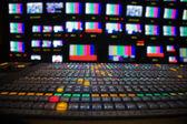Galeria audycji telewizyjnych — Zdjęcie stockowe