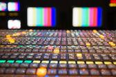 电视广播的控制板 — 图库照片