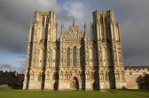 Wells Cathedral front entrance — Stock Photo
