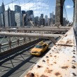 Brooklyn Bridge, New York City — Stock fotografie