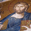 Mosaic of Christ in Kariye Museum, Istanbul - Stock Photo