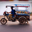Stock Photo: Motion blur TukTuk