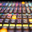 Rows of buttons on a Vision Mixing panel — Stock Photo #21967403