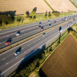 Motorway from the air - Stock Photo