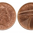 Royalty-Free Stock Photo: Head and tail of British Penny