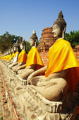 Buddha Images, Ayuthaya — Stock Photo