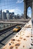 Brooklyn bridge, new york city — Stock fotografie
