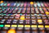 Rows of buttons on a Vision Mixing panel — Stock Photo