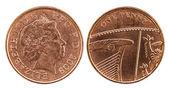 голова и хвост британский пенни — Стоковое фото