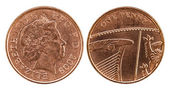 Head and tail of British Penny — Foto de Stock