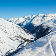 Stock Photo: Winter view of the Otztal Alps and Gurgler Valley