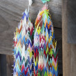 Stock Photo: Paper Crane Chain