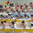Dragon Boat Racing, Singapore — Stock Photo