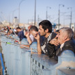 On Galata Bridge, Istanbul - Stock Photo