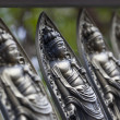 Small Bodhisattva statues at Temple in Kyoto — Stock Photo