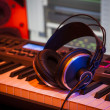Headphones in Home Studio — Stock Photo #22527523