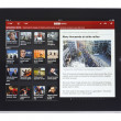 BBC News App for iPad - Stock Photo