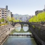 Nakashima River and Spectacles Bridge in Nagasaki — Stock Photo #22528093